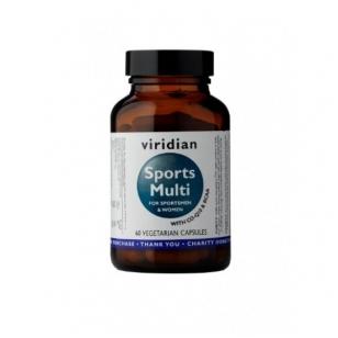 """""""Viridian"""" maisto papildas Sports Multi  (multivitaminai sportuojantiems) 60 kapsulių."""