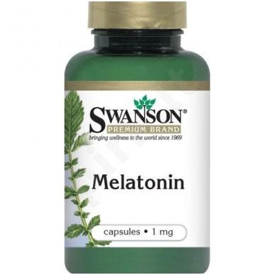 Swanson MELATONINAS 1mg. 120kap.