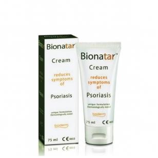 BIONATAR kremas psoriazės ir seborėjinio dermatito požymiams mažinti 75 ml.