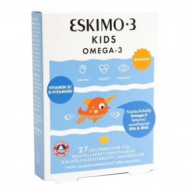ESKIMO-3 KIDS OMEGA-3 apelsinų skonio kramt. tab. N.27