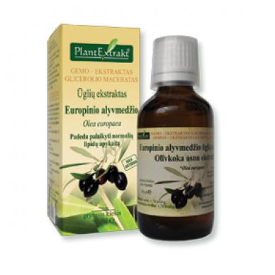 Europinių alyvmedžių ūglių ekstraktas.