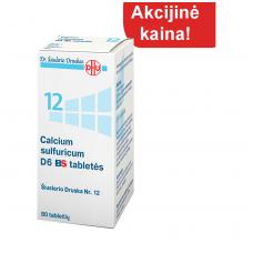 Šiuslerio druska Nr.12 - Calcium sulfuricum D6 BS, 80 tablečių