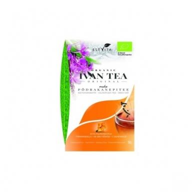 """Siauralapio gauromečio arbata """"Ivan chai"""" su šaltalankiais (50g)."""