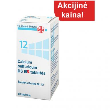 Šiuslerio Druska Nr.12 - Calcium sulfuricum D6 BS tabletės, N.80