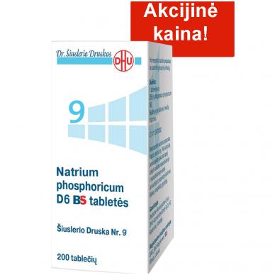 Šiuslerio druska Nr.9 - Natrium phosphoricum D6 BS tabletės, 200 tablečių