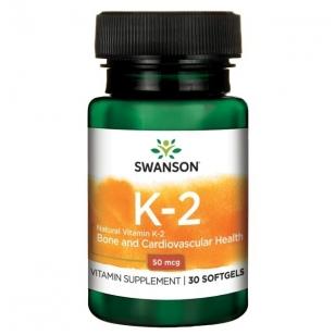 Swanson Vitaminas K2 50mcg N30